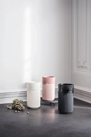 Lyngby Vase rosa mit Laufglasur – Bild 2