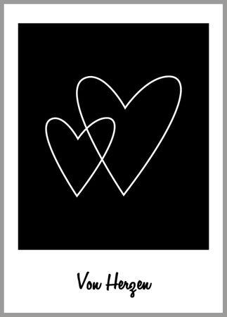 Postkarte Herzen