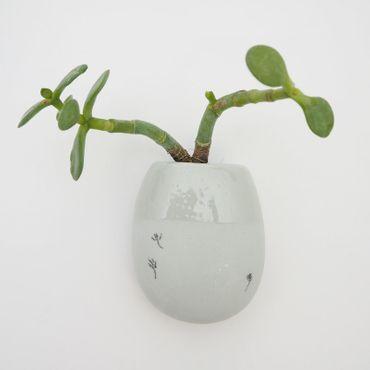 Wand Vase Medium hellgrau