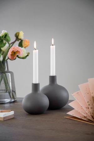 Kähler Globo Kerzenhalter granit grau – Bild 1