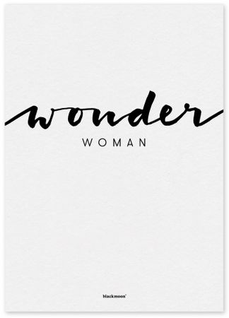 Postkarte Wonder Woman schwarz