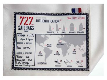 Sailbags Tasche Onshore-Dacron Hit Blue Navy No. 8 red – Bild 4