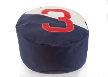 Sailbags Pouf Sitzkissen Duo bicolored blue navy blau no. 3 red rot – Bild 1
