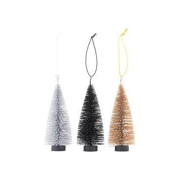 Ornament Tanne 3er-Set klein