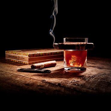Zigarren-Whiskeyglas