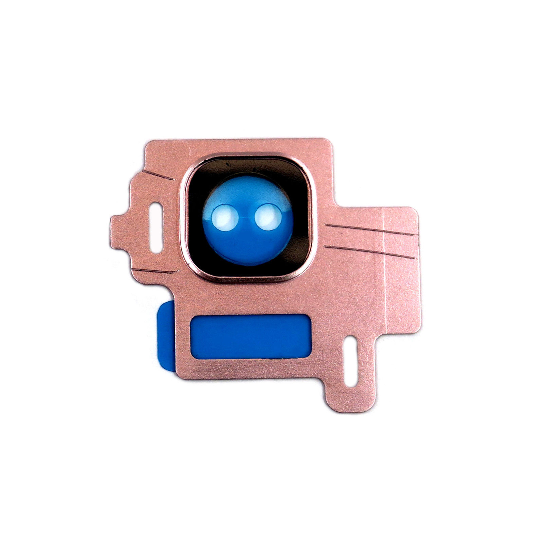 2x Kamera Linse Camera Lens Glas Abdeckung Rahmen Rosa Samsung ...
