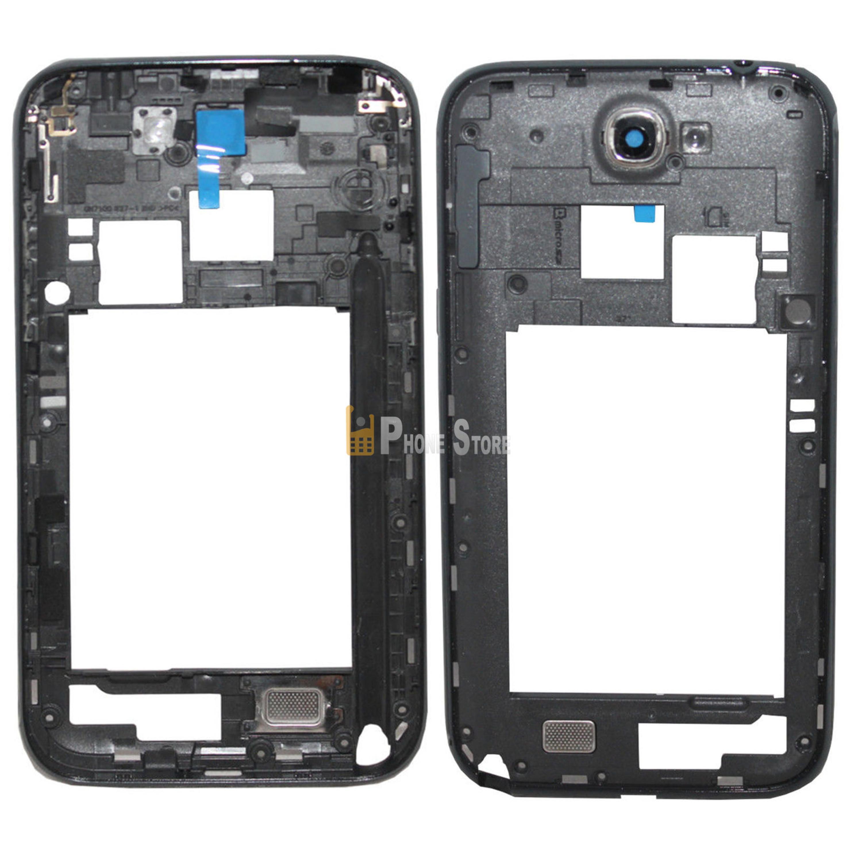 Original Samsung Galaxy Note 2 N7100 Mittel Rahmen Rahm Cover Kamera ...