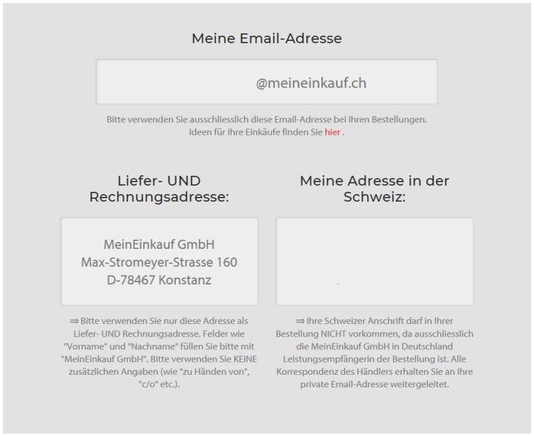 Konto auf MeinEinkauf.ch eröffnen