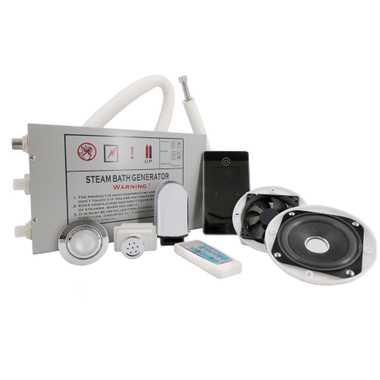 TroniTechnik Dampfgenerator Dampfdusche Dampfset Dampfbad Duschkabine SET  – Bild 1