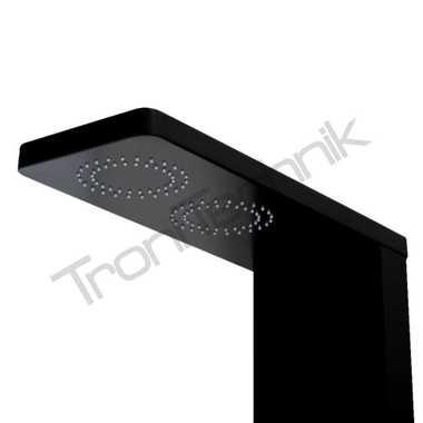 TroniTechnik Duschpaneel MESSINA Aluminium schwarz – Bild 3