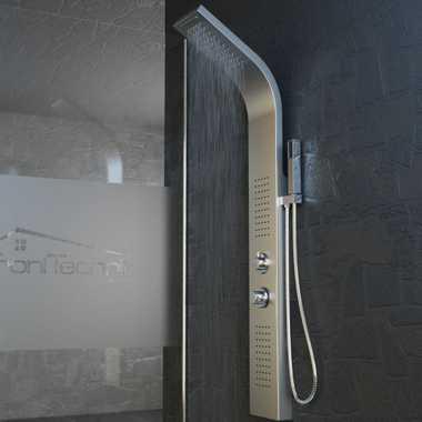 Duschpaneel Duschsäule Duscharmatur ZEUS Edelstahl inkl. Handbrause, Wasserfall, Massage – Bild 4