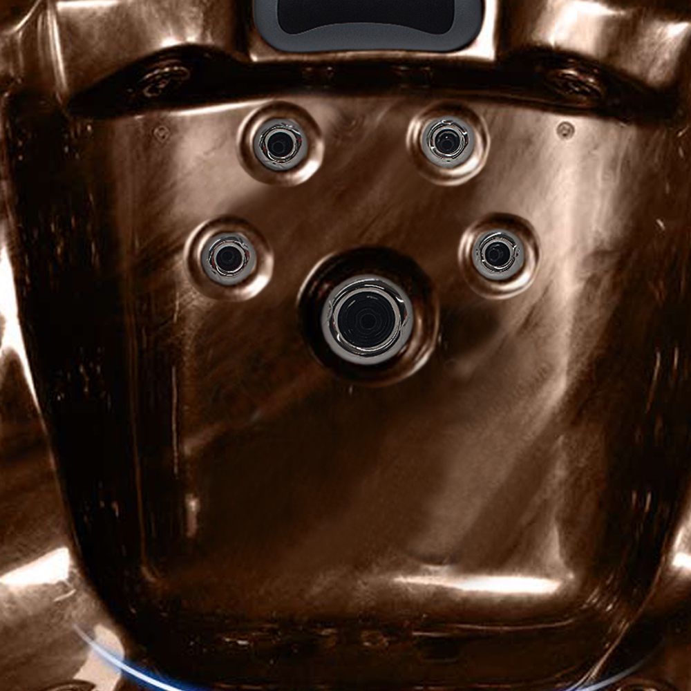 Bild 9: Outdoor Whirlpool Spa CRETACCIO braun 200cm x 200cm KOMPLETT inkl. Thermoabdeckung + Treppe