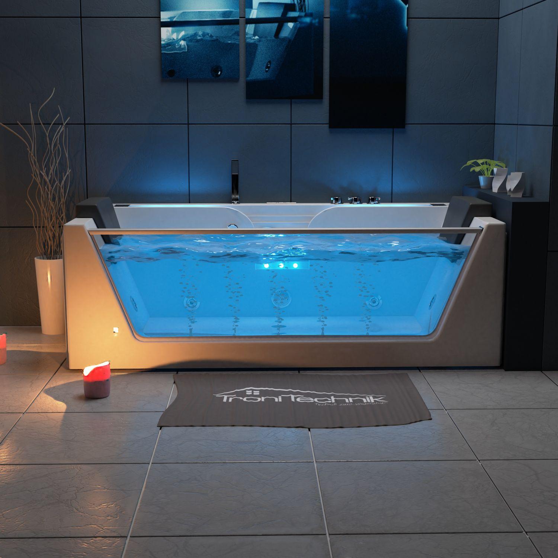 Bild 3: TroniTechnik Whirlpool Badewanne KOS 2 179cm x 85cm mit Heizung, Hydromassage, Bachlauf und Farblichtherapie
