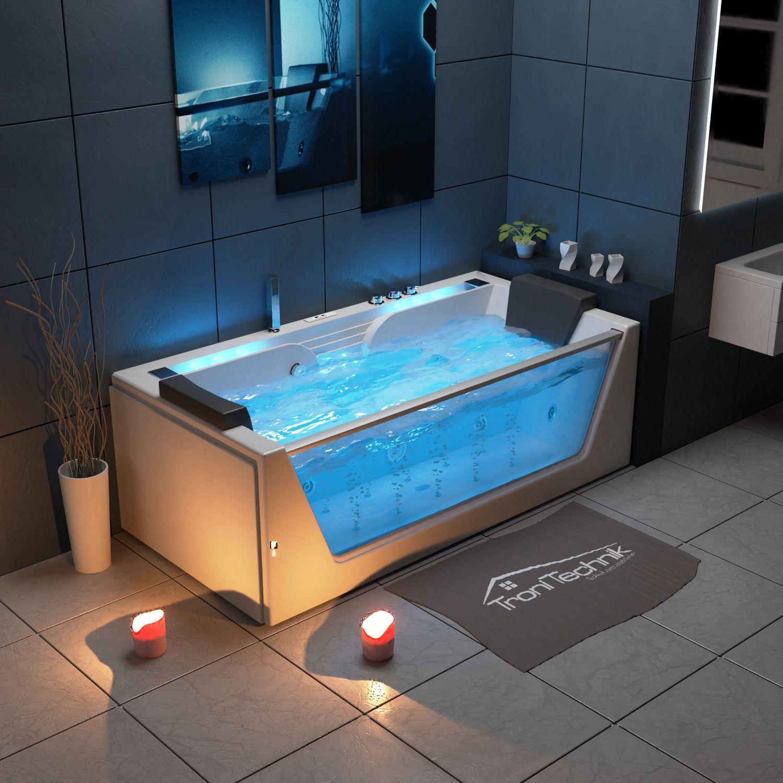 Bild 2: TroniTechnik Whirlpool Badewanne KOS 2 179cm x 85cm mit Heizung, Hydromassage, Bachlauf und Farblichtherapie