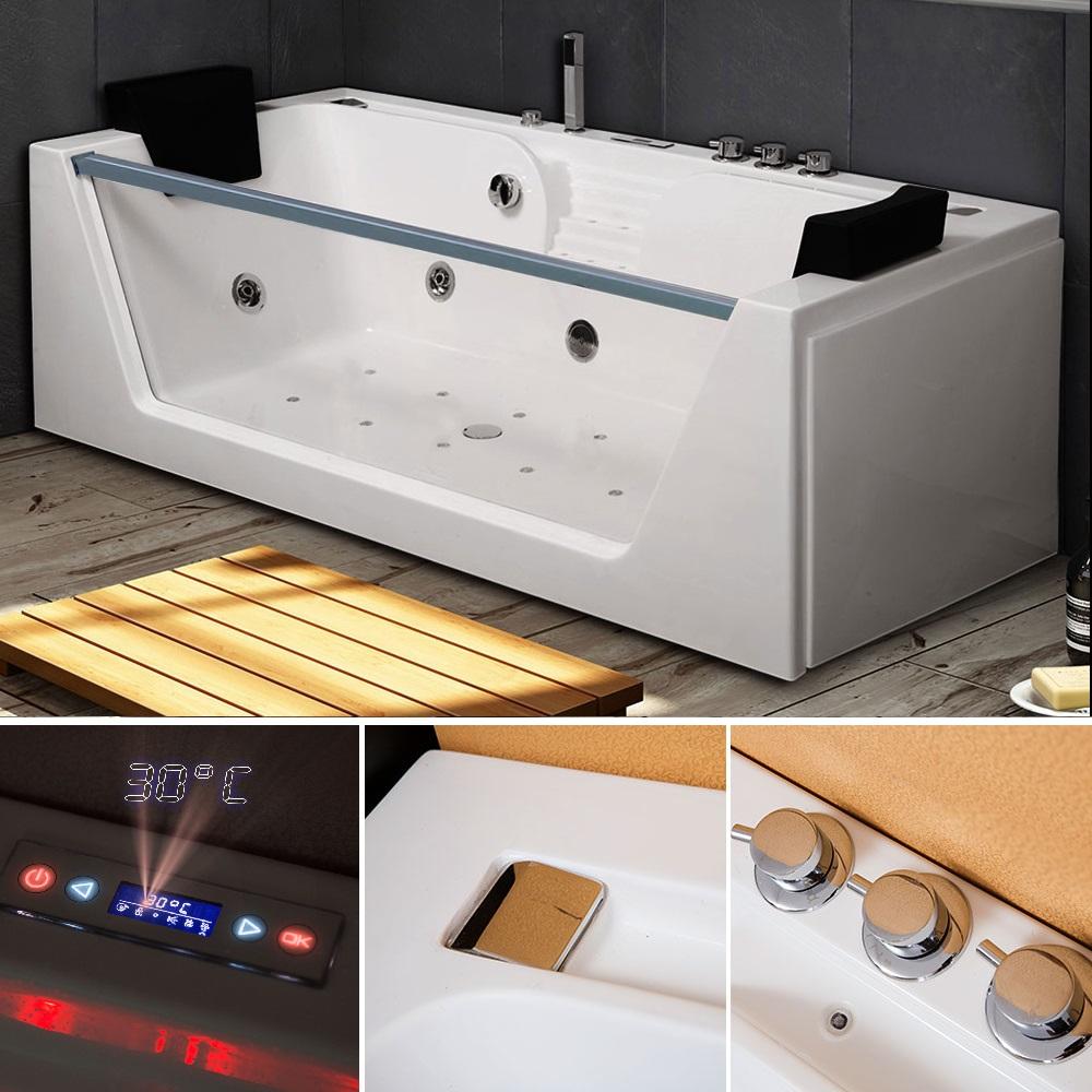 tronitechnik whirlpool badewanne kos 2 179cm x 85cm mit. Black Bedroom Furniture Sets. Home Design Ideas