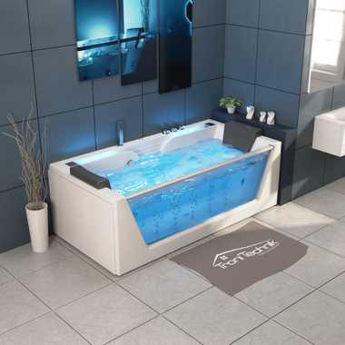 TroniTechnik Whirlpool Badewanne KOS 2 179cm x 85cm mit Heizung, Hydromassage, Bachlauf und Farblichtherapie – Bild 5