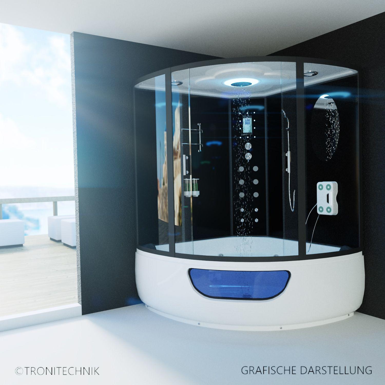 tronitechnik dampfdusche fertigdusche dampfsauna whirlpool badewanne komplettdusche duschkabine. Black Bedroom Furniture Sets. Home Design Ideas