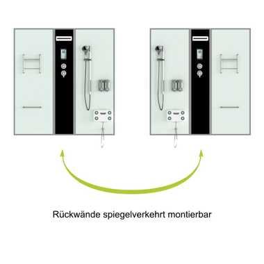 TroniTechnik Dampfdusche Fertigdusche Whirlpool Komplettdusche LIMNOS 170cm x 90cm – Bild 4