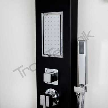 TroniTechnik shower panel TURIN aluminium black – Bild 2