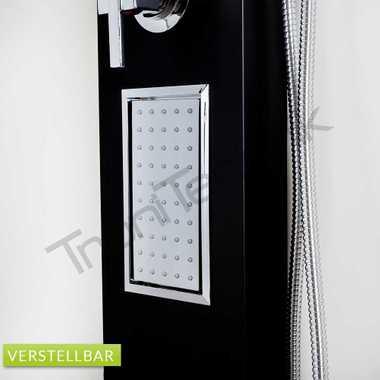 TroniTechnik Duschpaneel Duschsäule Wasserfall Duscharmatur Duschset Dusche TURIN Schwarz – Bild 5
