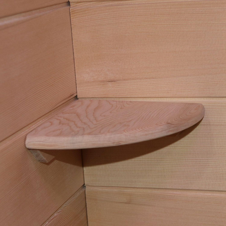 Bild 7: Dewello Infrarotkabine Infrarotsauna Wärmekabine LAVAL PLUS 135cm x 105cm inkl. Keramikstrahler, Bodenstrahler