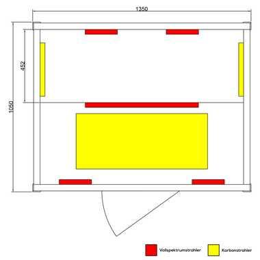 Infrarotkabine PIERSON 135x105 Dual-Therm – Bild 4