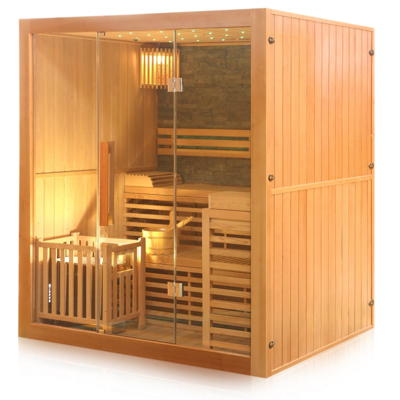 tronitechnik finnische traditionelle sauna sarnia plus 180cm x 140cm inkl 6 kw harvia ofen. Black Bedroom Furniture Sets. Home Design Ideas