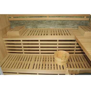 TroniTechnik Finnische Traditionelle Sauna SARNIA PLUS 210cm x 180cm inkl. 8 KW Harvia Ofen, Zubehör – Bild 6