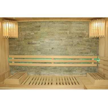 TroniTechnik Finnische Traditionelle Sauna SARNIA PLUS 210cm x 180cm inkl. 8 KW Harvia Ofen, Zubehör – Bild 5