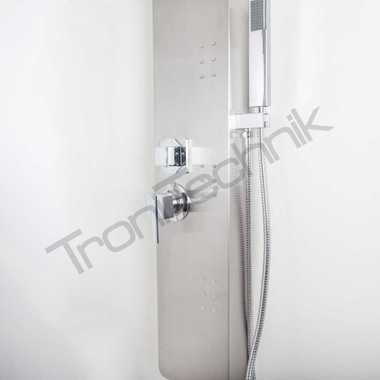 TroniTechnik Duschpaneel Duschsäule Duscharmatur Wasserfall MODENA Edelstahl  – Bild 5