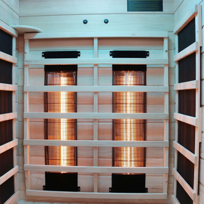 Bild 5: Infrarotkabine PIERSON (90x90) Dual-Therm von Dewello günstig kaufen!