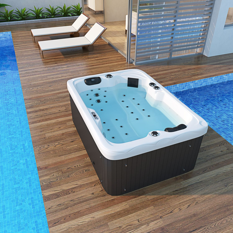 Outdoor Whirlpool LEVANZO weiß 20x20   TroniTechnik