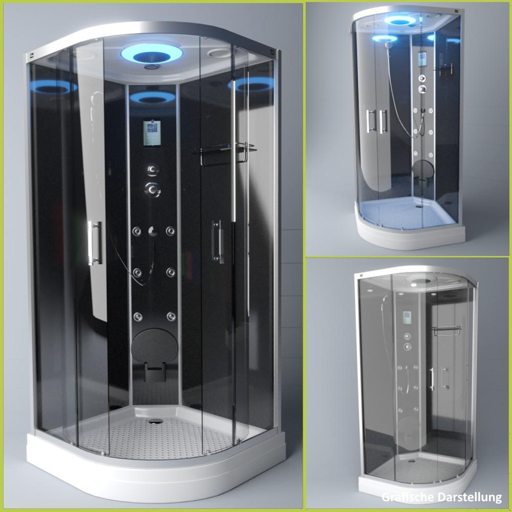 Bild 3: TroniTechnik Duschtempel Fertigdusche Duschkabine Dusche Glasdusche Eckdusche Komplettdusche S100XD1KG01 100x100