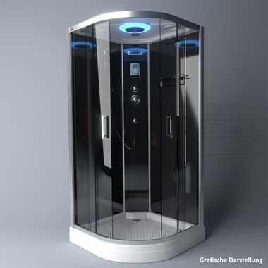 TroniTechnik Duschtempel Fertigdusche Duschkabine Dusche Glasdusche Eckdusche Komplettdusche S100XF1KG01 100x100 – Bild 4