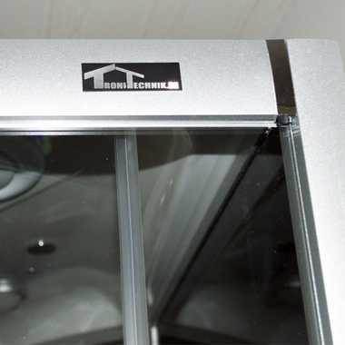 TroniTechnik Duschtempel Fertigdusche Duschkabine Dusche Glasdusche Eckdusche Komplettdusche S090XF2KG01 90x90 – Bild 11