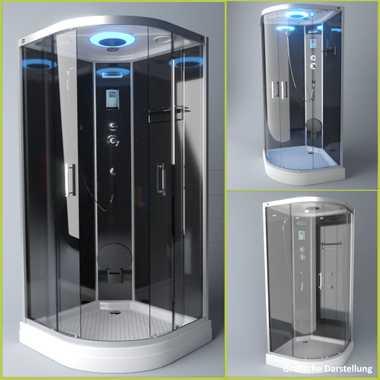 TroniTechnik Duschtempel Fertigdusche Duschkabine Dusche Glasdusche Eckdusche Komplettdusche S100XG1KG01 100x100 – Bild 3