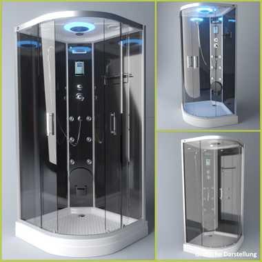 TroniTechnik Duschtempel Fertigdusche Duschkabine Dusche Glasdusche Eckdusche Komplettdusche S100XI1KG01 90x90 – Bild 3