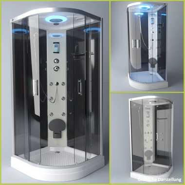 TroniTechnik Duschtempel Fertigdusche Duschkabine Dusche Glasdusche Eckdusche Komplettdusche S100XI2KG01 90x90 – Bild 3