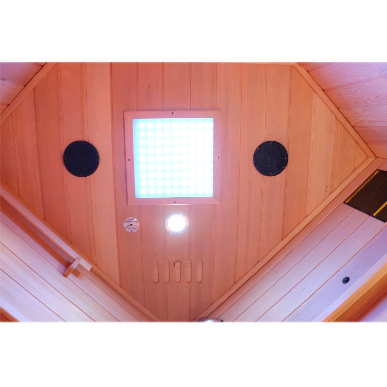 Bild 4: Dewello Infrarotkabine Infrarotsauna Wärmekabine LAKEFIELD 2 120cm x 120cm inkl. Vollspektrumstrahler, Bodenstrahler