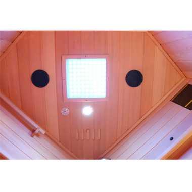 Dewello Infrarotkabine Infrarotsauna Wärmekabine LAKEFIELD 3 120cm x 120cm inkl. Vollspektrumstrahler, Bodenstrahler – Bild 7