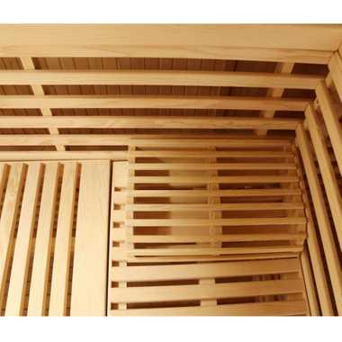 Dewello Finnische Traditionelle Sauna SARNIA 2 200cm x 200cm inkl. 8 KW Harvia Ofen, inkl. komplettem Zubehör – Bild 11