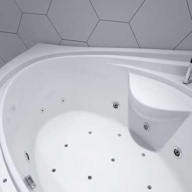 TroniTechnik Whirlpool Badewanne HYDRA 165cm x 148cm inkl. Heizung, Hydromassage, Bachlauf und Farblichtherapie – Bild 8