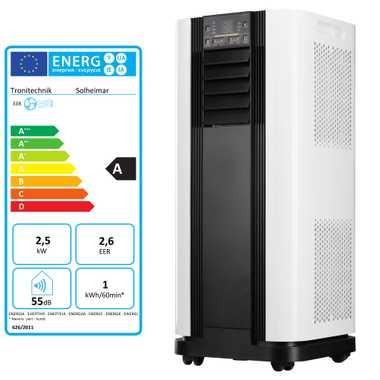 TroniTechnik mobiles Klimagerät Klimaanlage Luftkühler Ventilator 9000 BTU Solheimar Weiß – Bild 1