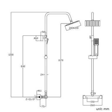 TroniTechnik Duschpaneel Duschsäule Duscharmatur  Duschset Duschsystem Edelstahl – Bild 3