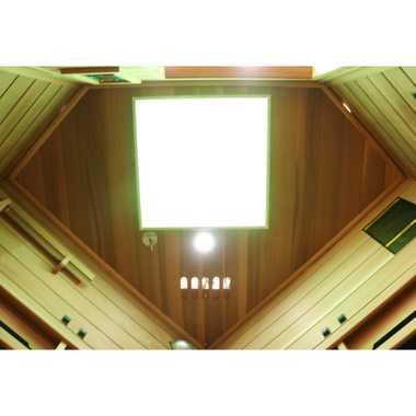 Dewello Infrarotkabine Infrarotsauna Wärmekabine LAKEFIELD PRO Hemlock/ Zeder 140cm x 140cm inkl. Vollspektrumstrahler, Bodenstrahler – Bild 8