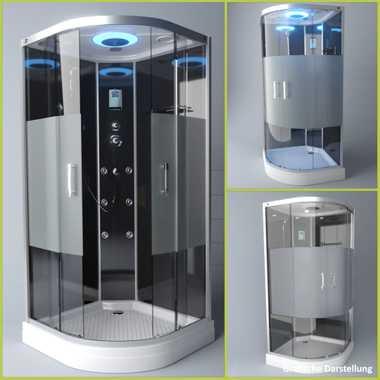 TroniTechnik Duschtempel Fertigdusche Duschkabine Dusche Glasdusche Eckdusche Komplettdusche S100XC1HG01 100x100 – Bild 3