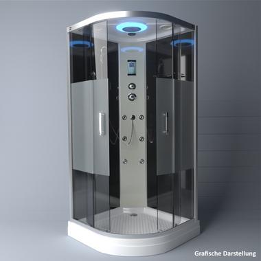 TroniTechnik Duschtempel Fertigdusche Duschkabine Dusche Glasdusche Eckdusche Komplettdusche S100XC2HG01 100x100 – Bild 4