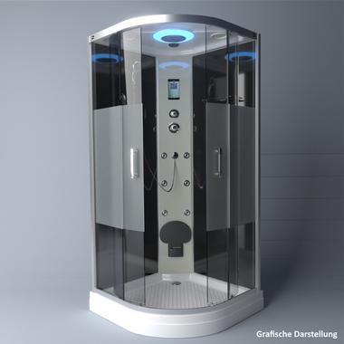 TroniTechnik Duschtempel Fertigdusche Duschkabine Dusche Glasdusche Eckdusche Komplettdusche S100XD2HG01 100x100 – Bild 4