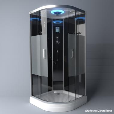 TroniTechnik Duschtempel Fertigdusche Duschkabine Dusche Glasdusche Eckdusche Komplettdusche S100XF1HG01 100x100 – Bild 4