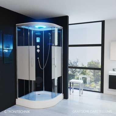 TroniTechnik Duschtempel Duschkabine Dusche Glasdusche Eckdusche Komplettdusche S100XG1HG01 100x100 – Bild 1